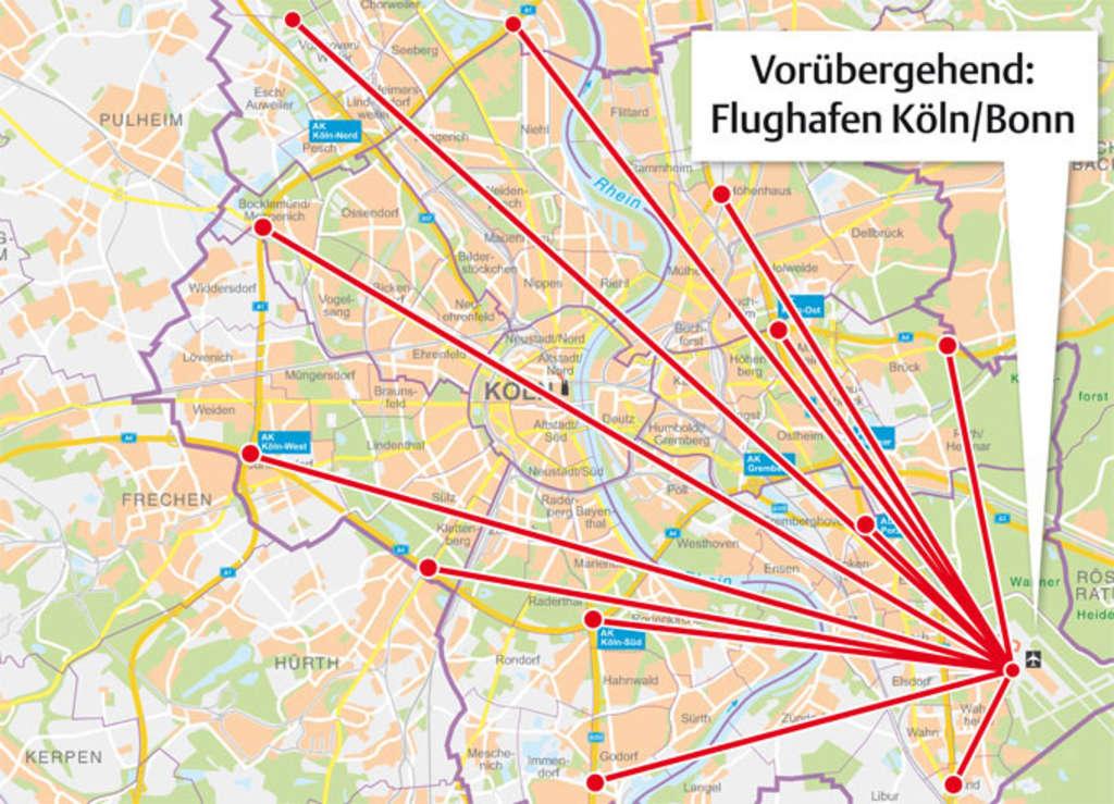 Flugrouten Köln