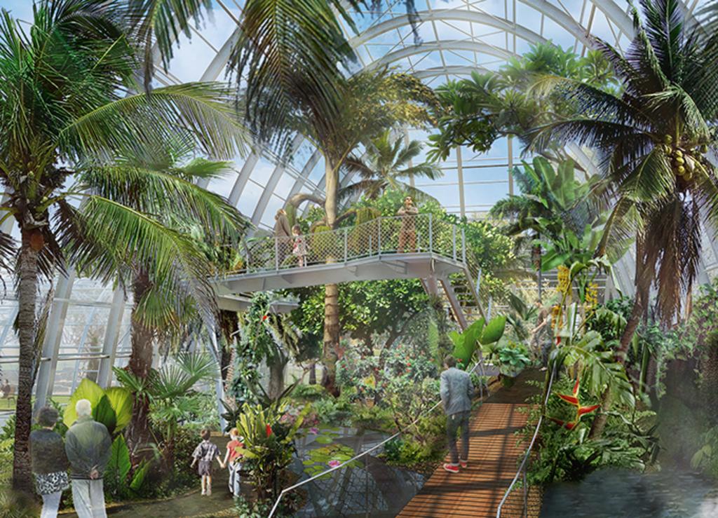 Tropen- Und Wüstenhaus Im Botanischen Garten Schließen