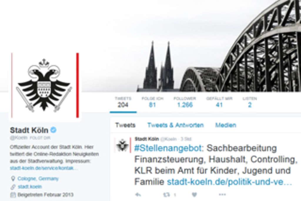 Twitter Stadt Köln