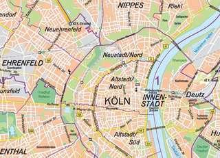 Ubersichtskarte 1 50 000 Stadt Koln