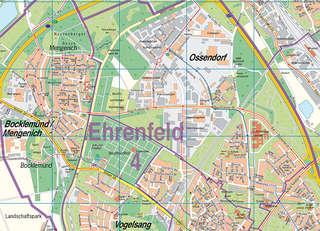 Stadtplan Koln 1 25 000 Stadt Koln