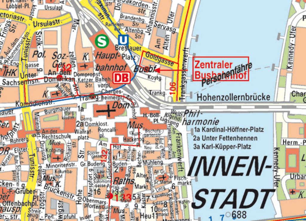 Küchenbedarf Köln Innenstadt ~ stadtplan karte