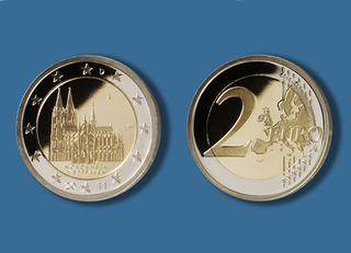 2 Euro Gedenkmünze Mit Kölner Dom Stadt Köln