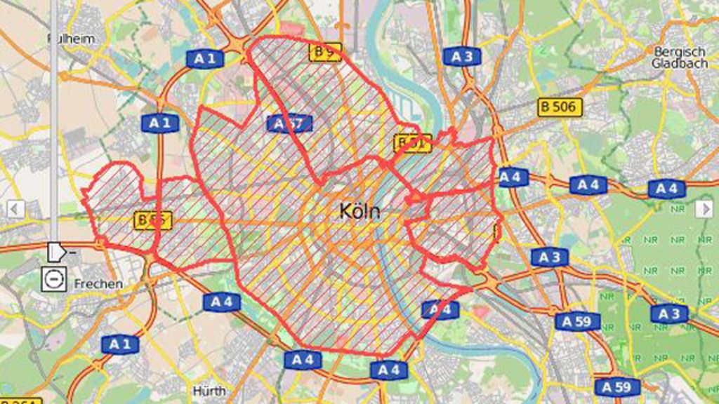 Umweltzone k ln karte goudenelftal - Mobelhauser koln und umgebung ...