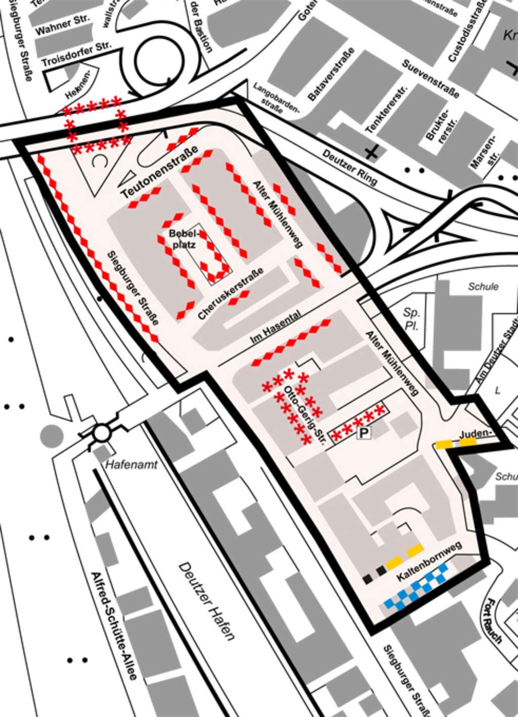 Bewohnerparken Deutz V - Stadt Köln