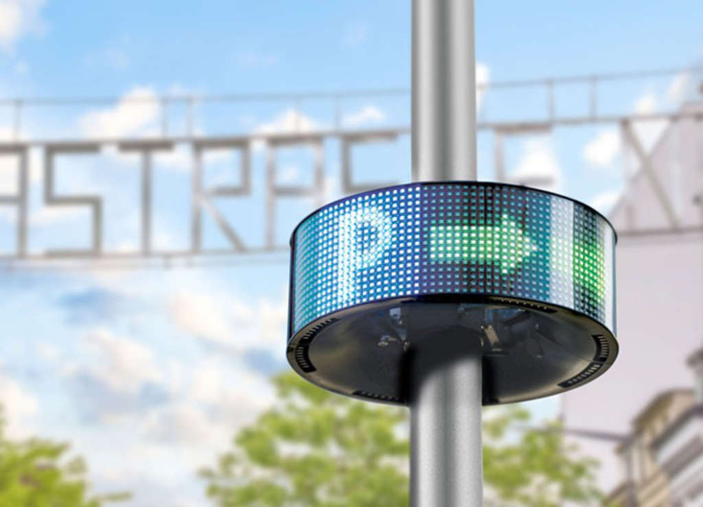 LED-Anzeige am ParkPilot in Nippes