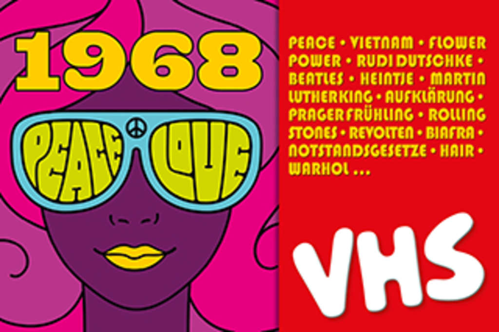 VHS Köln Banner Peace and Love 2018, © VHS Köln
