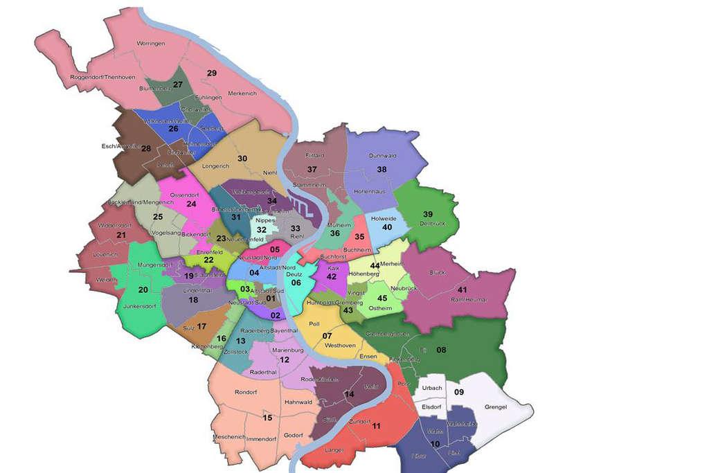 Köln Wahlbezirke