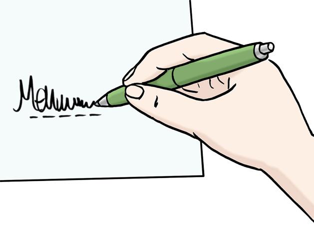 Unterschreiben Lassen