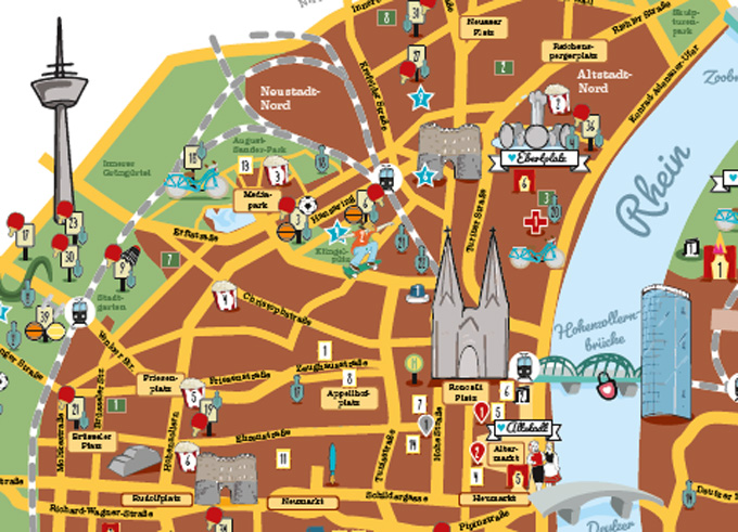Stadtplan Köln Innenstadt