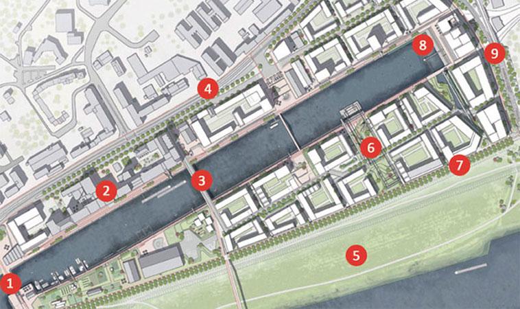 Planung Deutzer Hafen