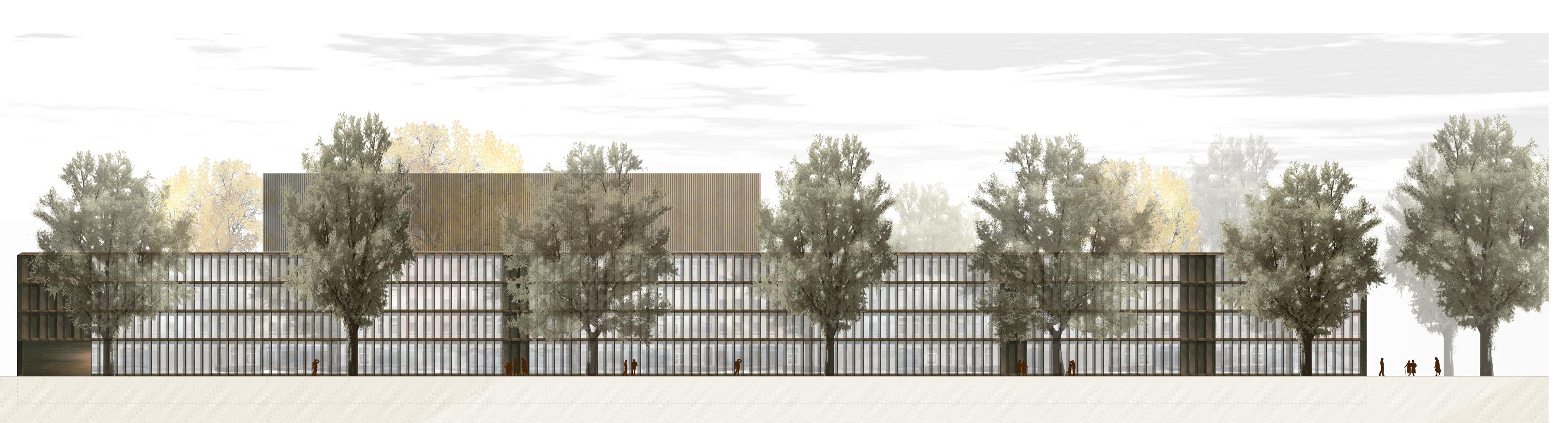 Neubau historisches archiv stadt k ln - Architektur ansicht ...