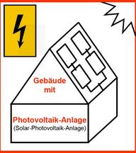 Hinweisschild für Gebäude mit Photovoltaik-Anlage (© Stadt Köln/Jürgen Arens)